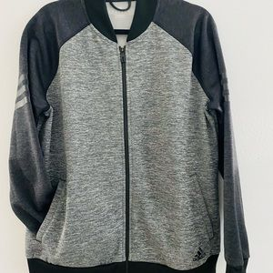 Adidas Faux Leather Strips Jacket